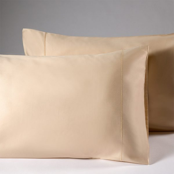 coppia federe raso beige dune lounge