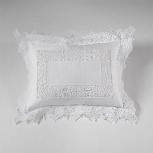federa decorativa boudoir pizzo bianco liberty