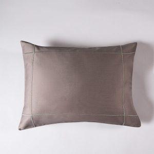 federa decorativa boudoir raso grigio piombo lounge