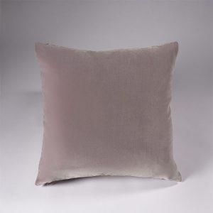 federa decorativa cuscino velluto grigio perla lounge