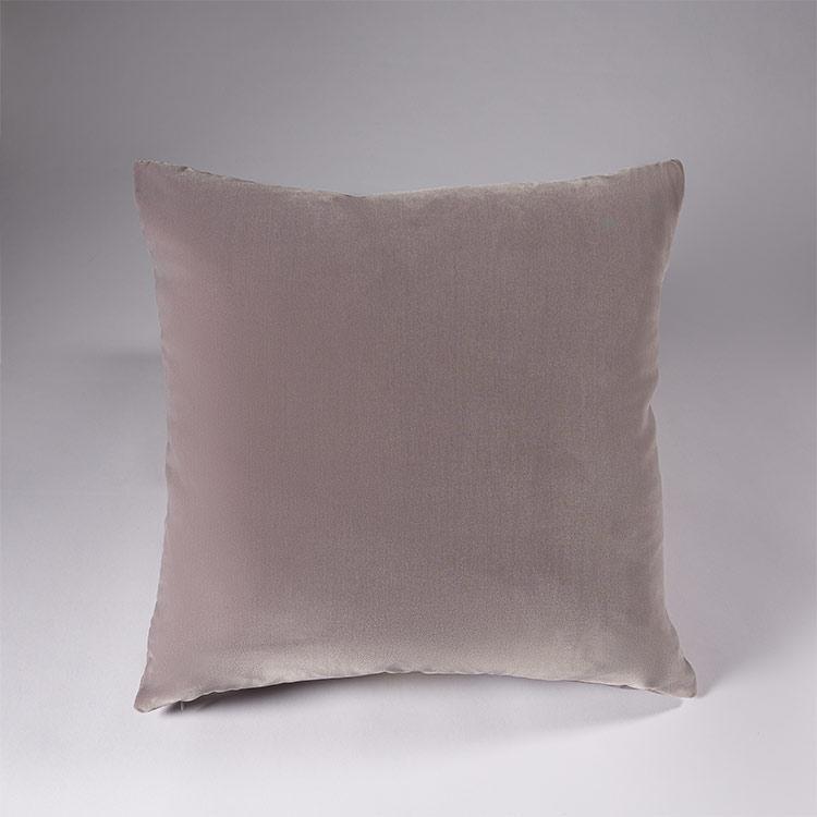federa decorativa cuscino velluto grigio perla