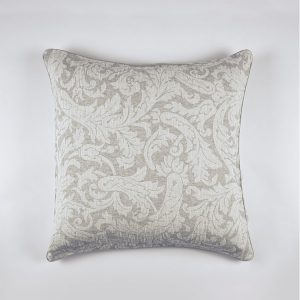 federa decorativa cuscino jacquard grigio victorian
