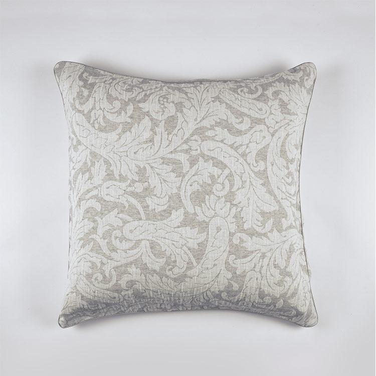 federa decorativa cuscino jacquard grigio