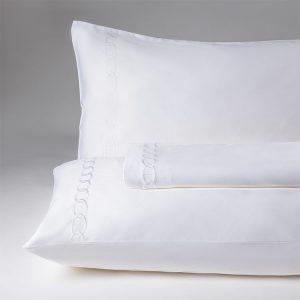 parure lenzuola matrimoniale bianco hermitage