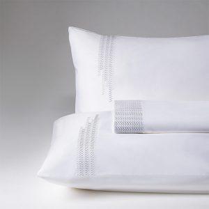 parure lenzuola matrimoniale grigio perla carlton
