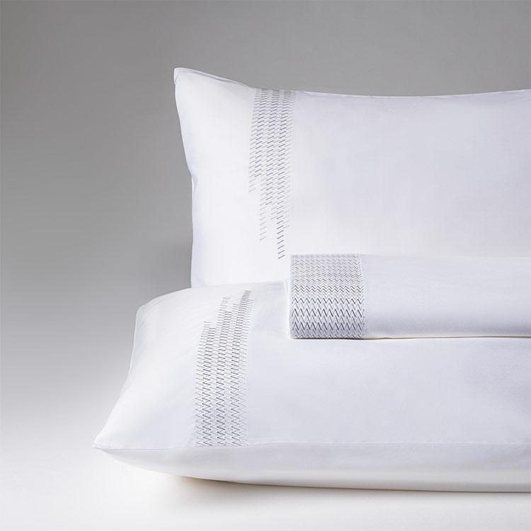 parure lenzuola matrimoniale grigio perla