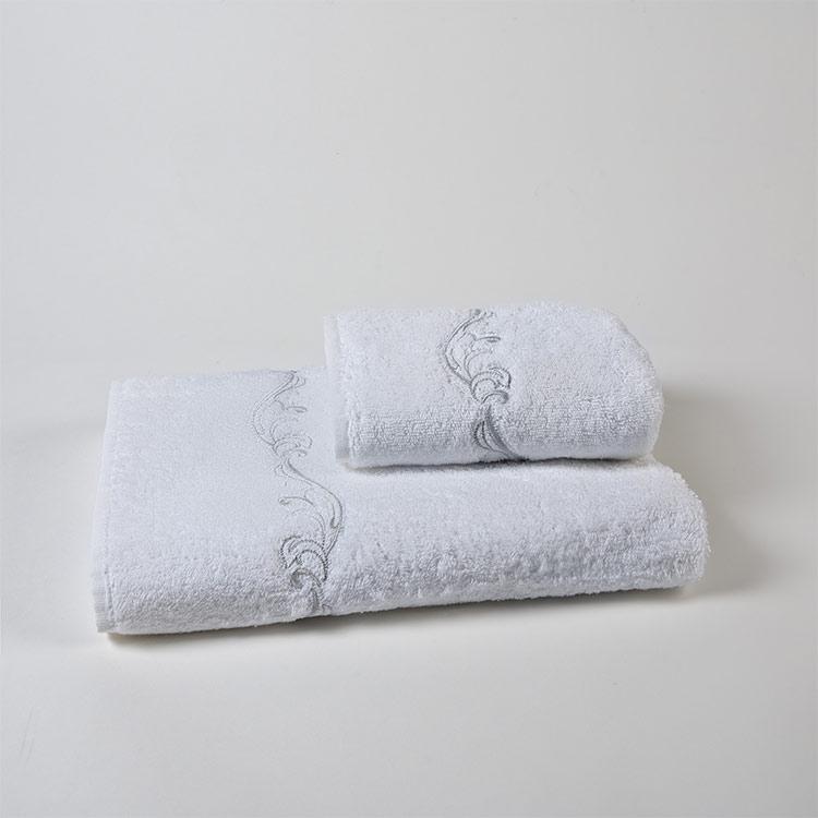 set spugna bagno ricamo jacquard grigio
