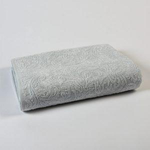 telo bagno jacquard allover grigio perla victorian