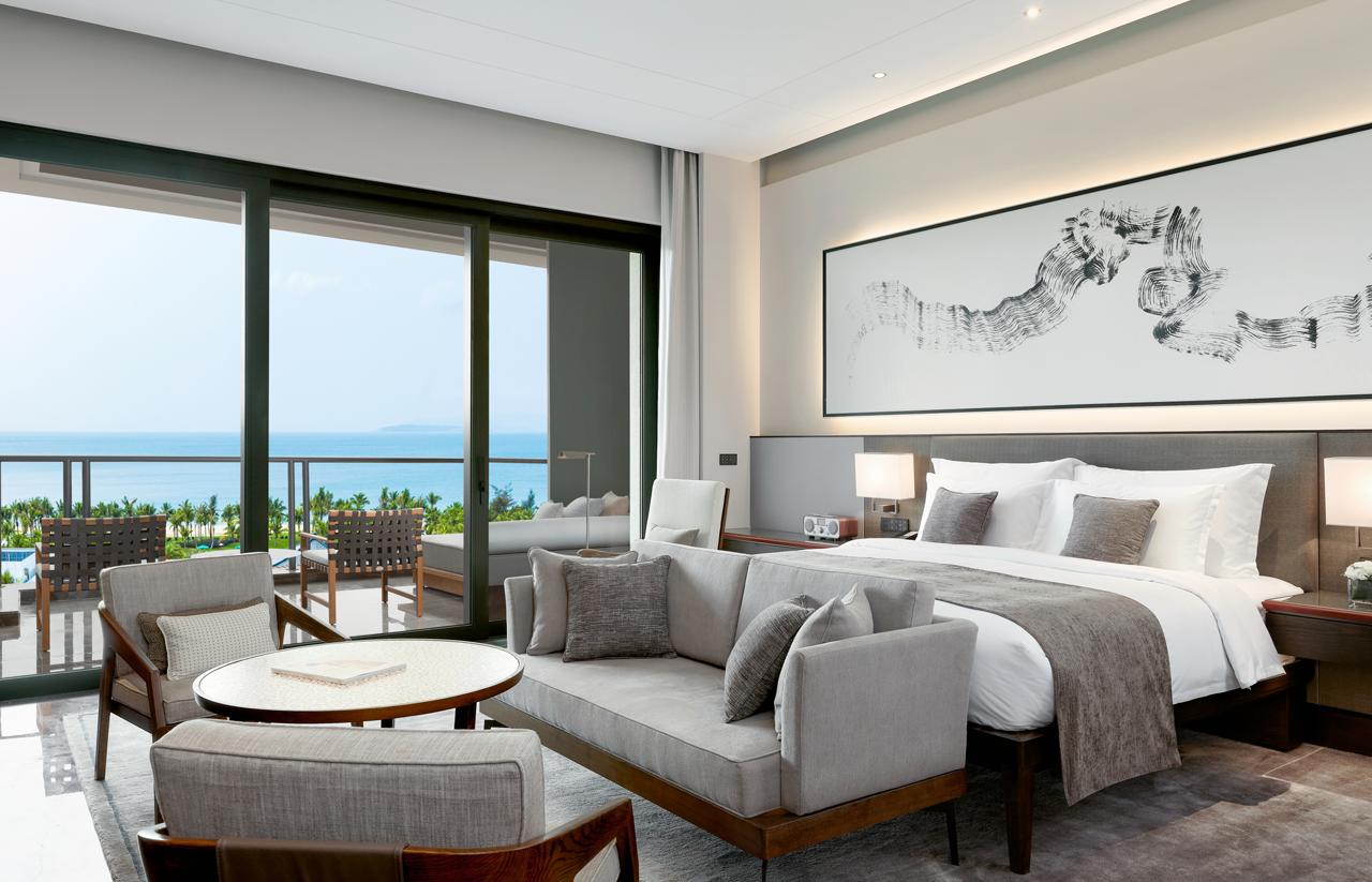 Rivolta Carmignani progetti Capella Sanya biancheria hotel camera da letto