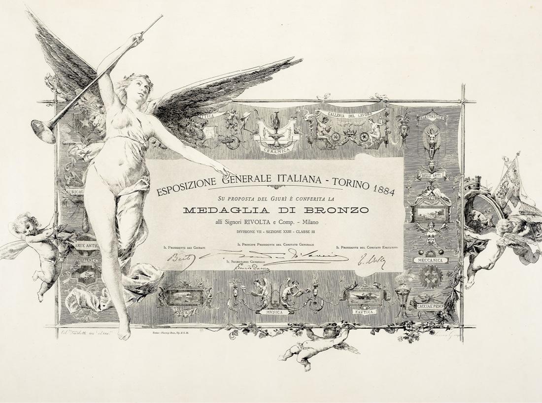 Rivolta Carmignani dal 1867 riconoscimenti
