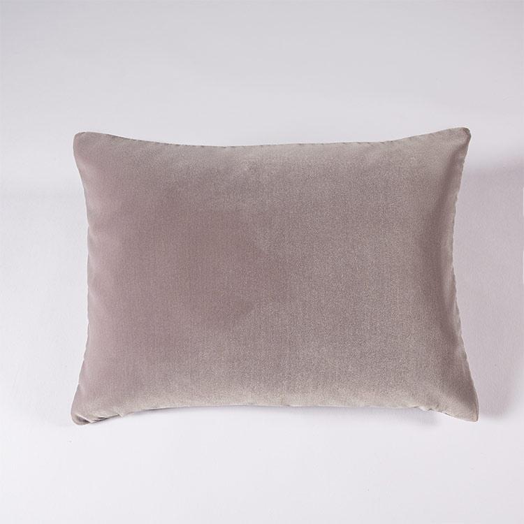 federa decorativa boudoir cuscino velluto grigio perla
