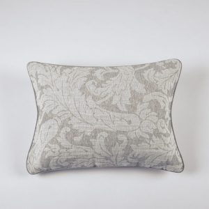 federe decorativa boudoir cuscino ricamo jacquard grigio victorian