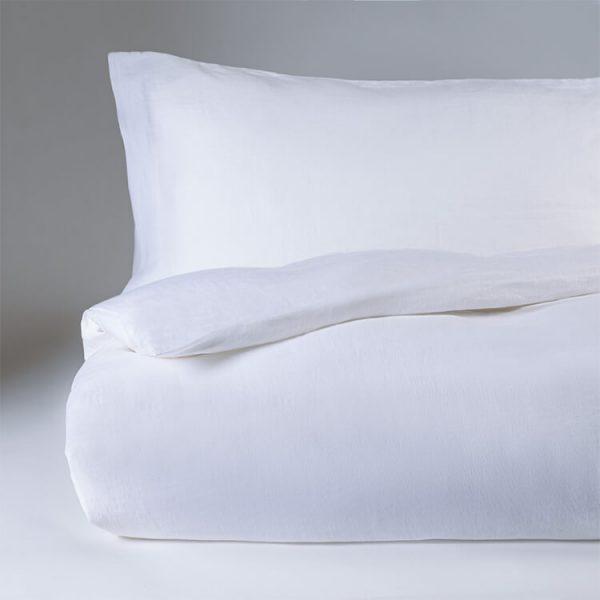 parure copripiumino canapa kanapa bianco ottico